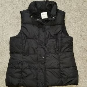 Old Navy Puff Vest with buttons and zipper